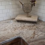 Sienna Bordeaux granite white subways