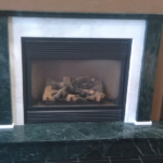 showroom fireplace